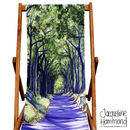 Country Lane Deckchair  by Jacqueline Hammond for Smart Deco Style
