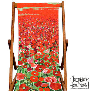 Poppy Art Print Deckchair
