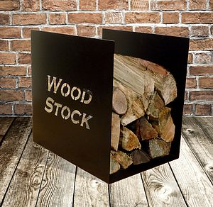 'Woodstock' Log Storage Rack - fireplace accessories