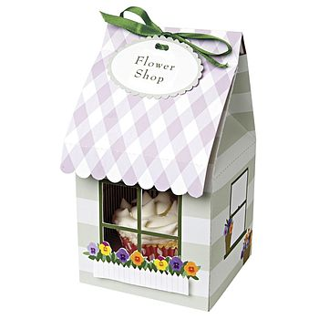 Flower Shop Cupcake Box Pack Of Four