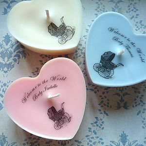 Personalised 'Welcome To The World' Candle - lighting