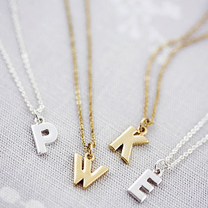 Personalised Chunky Letter Necklace - necklaces & pendants