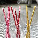 L-R: Pink, Red, Yellow Chevron Straws