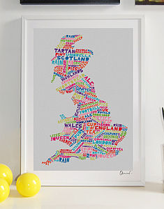 Britain Typography Print
