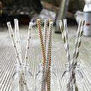 Middle- Gold and Silver Chevron Straw