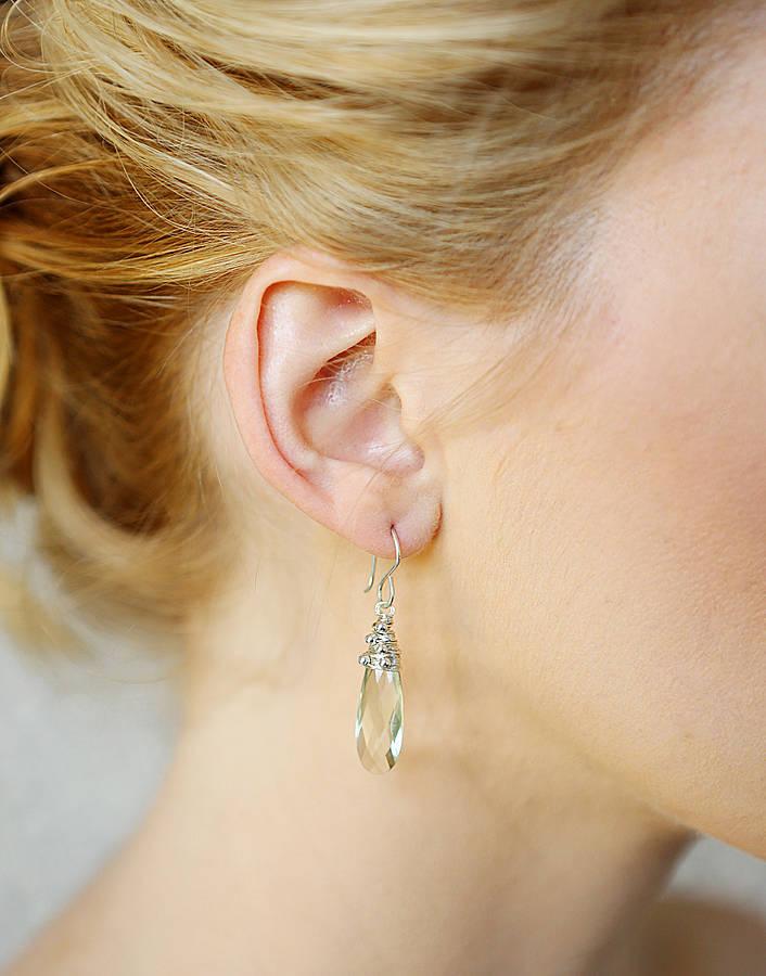 Palest Green Drop Earrings