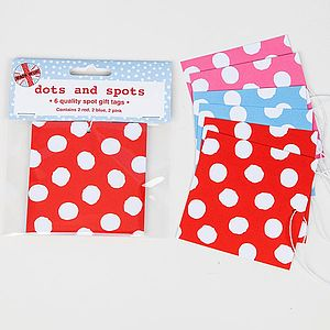 Spotty Gift Tags - winter sale