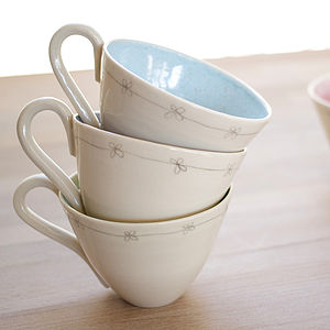 Handmade Porcelain Daisy Cup - kitchen
