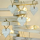 Personalised Natural Clay Heart Decorations