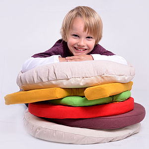 Giant Burger Floor Cushion Set - soft furnishings & accessories