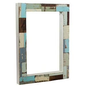 Mirror With Reclaimed Wood Frame - mirrors