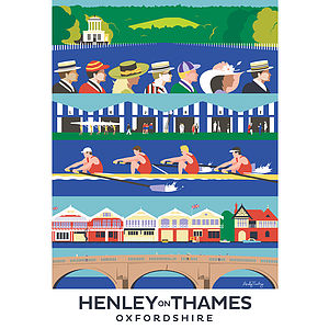Henley On Thames Oxfordshire Print - architecture & buildings