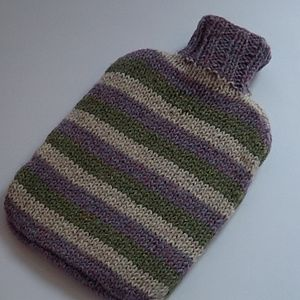 Scottish Wool Striped Hot Water Bottle Cover - hot water bottles & covers