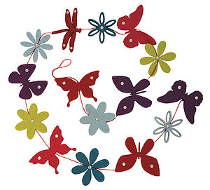 Butterfly Felt Wall Decoration - children's room accessories