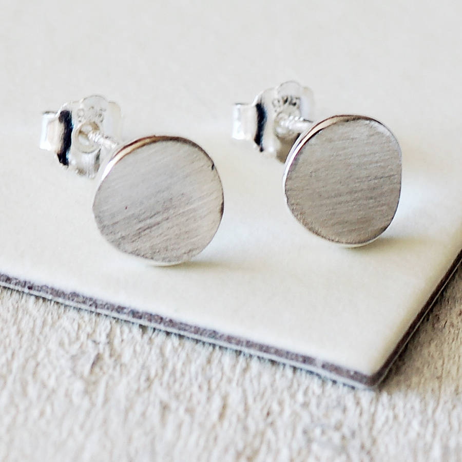 Disk Silvers: Silver Disc Earrings By Highland Angel