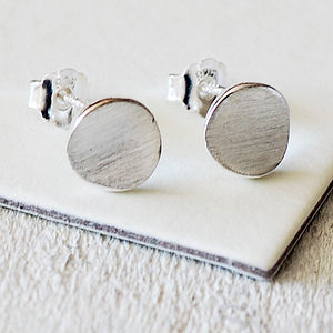 Silver Disc Earrings - children's accessories