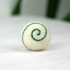 Hand Felted Spiral Ball