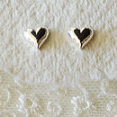 Silver Tiny Heart Earrings