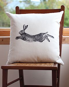 Hare Screen Print Cushion Cover