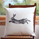 Hare Screen Print Cushion Cover
