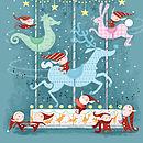 'Carouselves' Christmas Art Print