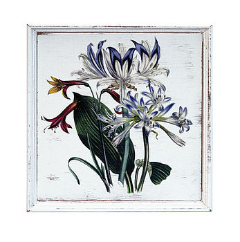 Bright Botanical Wooden Wall Art