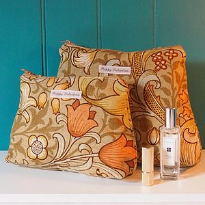 Wash Bag And Make Up Bag Set Golden Lily - holdalls & weekend bags