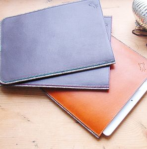 Personalised Leather And Felt Case For iPad Air - mens