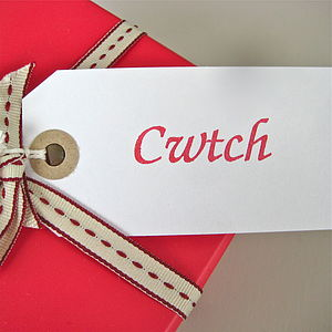 'Cwtch' Gift Tag - wedding stationery
