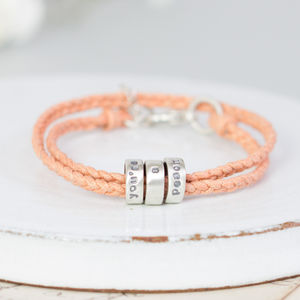 Ladies Personalised Message Bracelet - bracelets & bangles