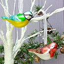Metallic Bird Hanging Decoration
