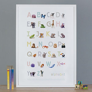 Illustrated Animals Alphabet Print