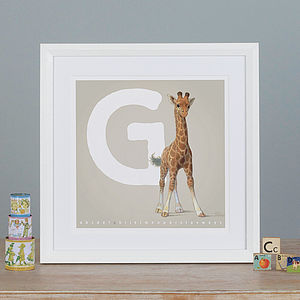 Illustrated Animal Letters A To Z Prints