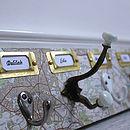 Mismatched Map Coat Hook Board