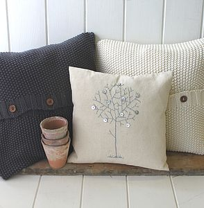Handmade Cable Knit Cushion Covers - cushions