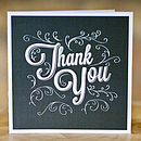 Thankyou card traditional wedding Stationery Oxford