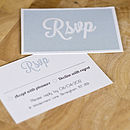 RSVP wedding stationery traditional swirls