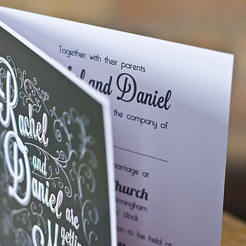 Wedding Invitation traditional Oxford Stationery