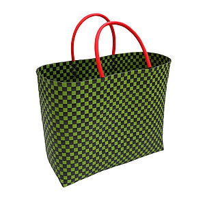 Woven Shopper Bag - boxes, trunks & crates