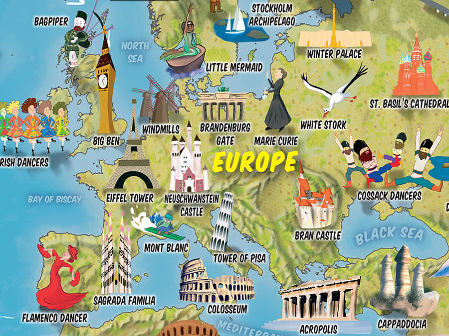 Kids Cartoon Map Of The World By Maps International - Little big world map