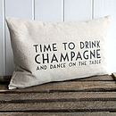 Fun Champagne Cushion