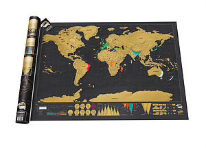 Scratch Off World Map Deluxe Edition - art & pictures