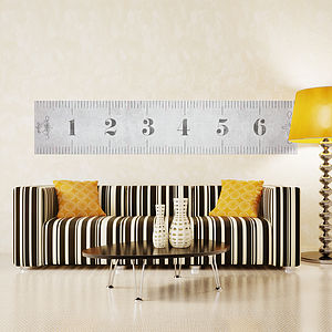 Giant Self Adhesive Vintage Measuring Tape - decorative accessories