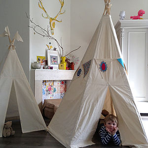 Big Moozle Teepee Tent Without Poles - tents, dens & wigwams