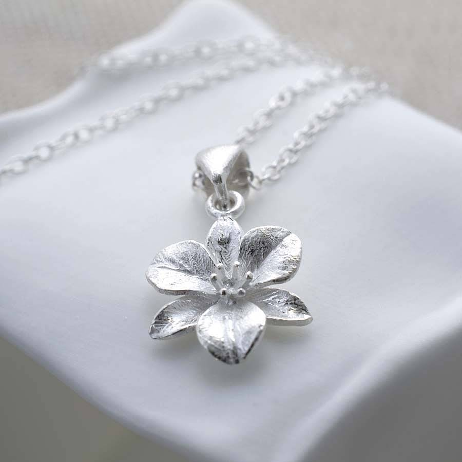 sterling silver flower jewellery set by martha jackson