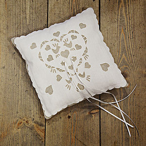 Wedding Ring Cushion - table decorations