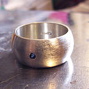 Large Personalised Silver Ring For Men