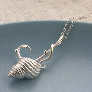 Silver Sea Shell Necklace - women's jewellery