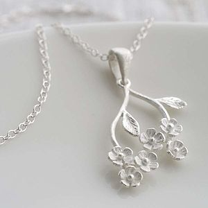 Silver Forget Me Not Pendant - necklaces & pendants
