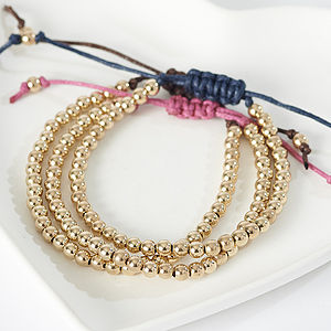 14K Gold Filled Friendship Bracelets - bracelets & bangles
